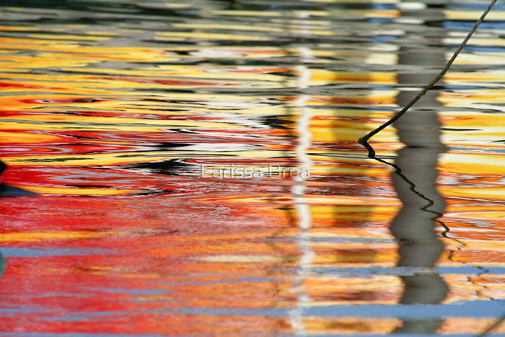 Red and yellow reflections by Larissa Brea