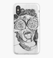 grapefruit face iPhone Case/Skin