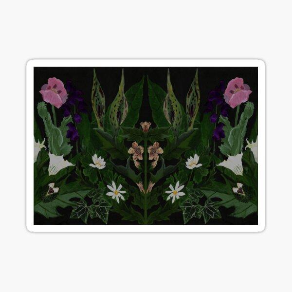 The Poison Garden - Datura and Henbane  Sticker