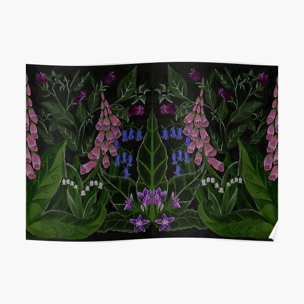 The Poison Garden - Mandrake and Foxglove Poster