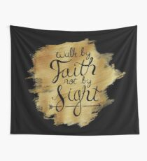 Walk By Faith Hand-Lettering Wall Tapestry