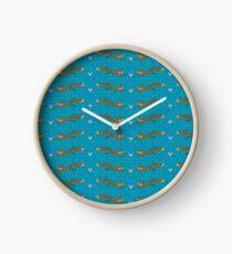 Fox pattern Clock