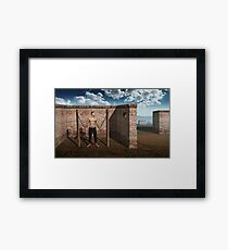 Masks and Loneliness Framed Print