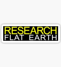 Research Flat Earth Classic Sticker