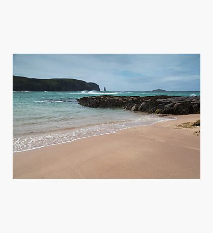 Sandwood Bay with Sea Stack Photographic Print