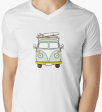 VW Van T-Shirt mit V-Ausschnitt für Männer
