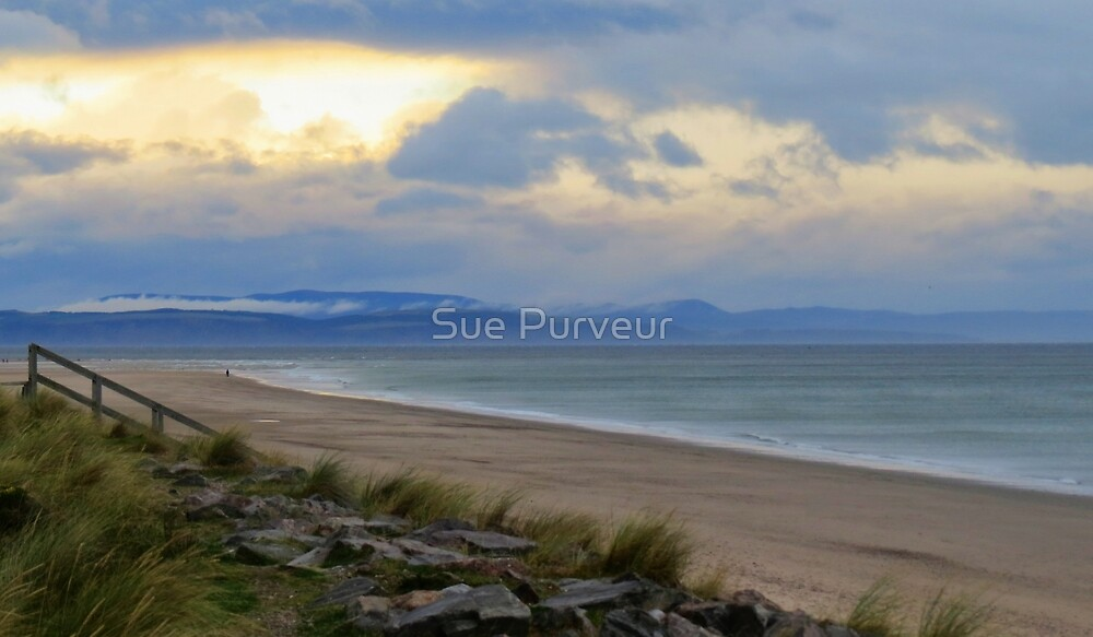 Wild and windswept Findhorn by Sue Purveur