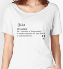 fjaka (Coatian) statement tee & accessories Women's Relaxed Fit T-Shirt