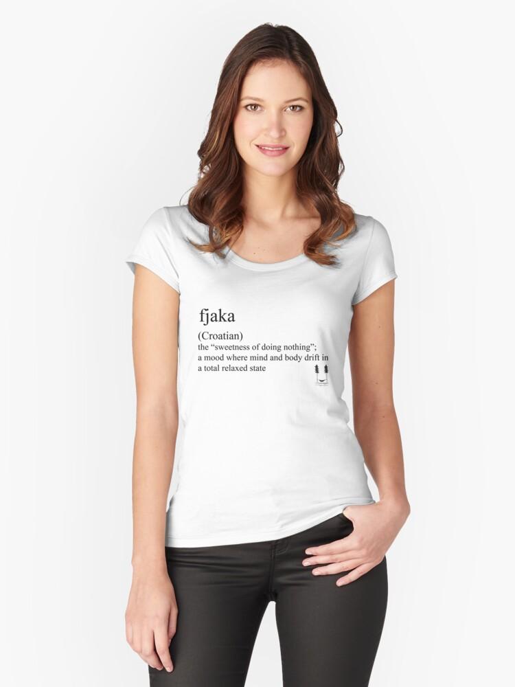 fjaka (Coatian) statement tee & accessories Women's Fitted Scoop T-Shirt Front