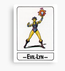 He-Man - Evil-Lyn - Trading Card Design Canvas Print