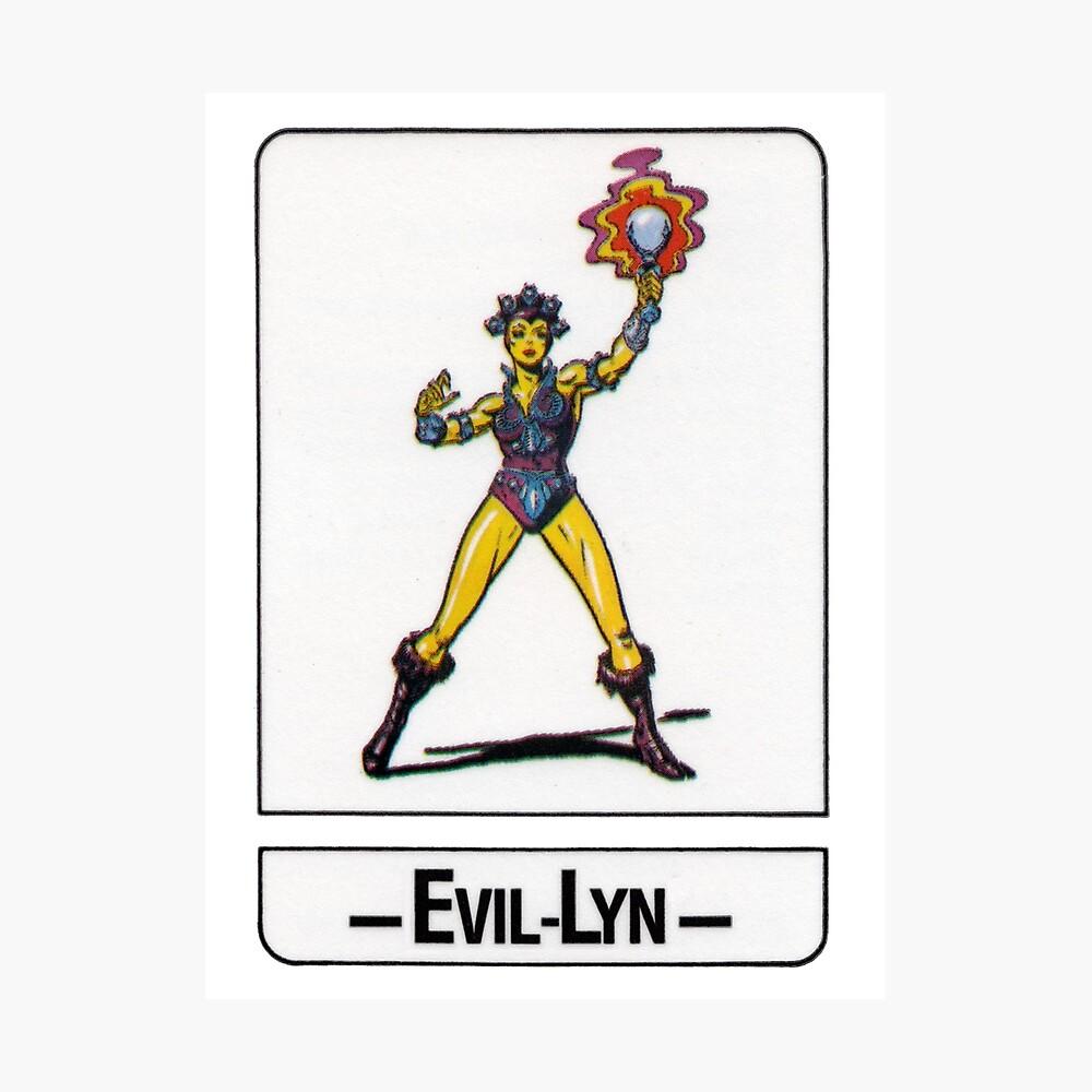 He-Man - Evil-Lyn - Trading Card Design Photographic Print