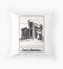 He-Man - Castle Grayskull - Trading Card Design Throw Pillow