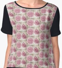 Shabby Chic Pretty Pink Roses  Chiffon Top