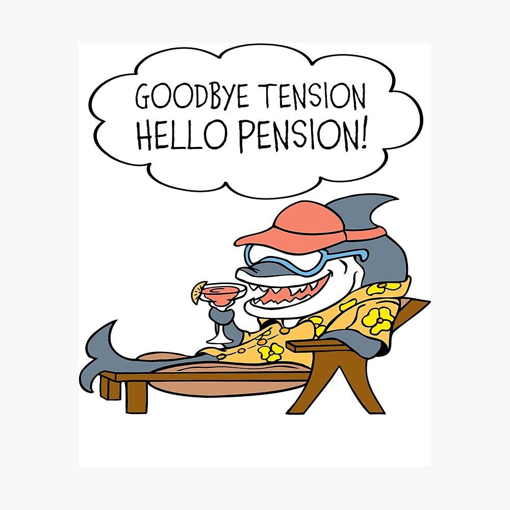 Impression Metallique Au Revoir Tension Bonjour Pension T Shirt Drole De Retraite Par Sixfigurecraft Redbubble