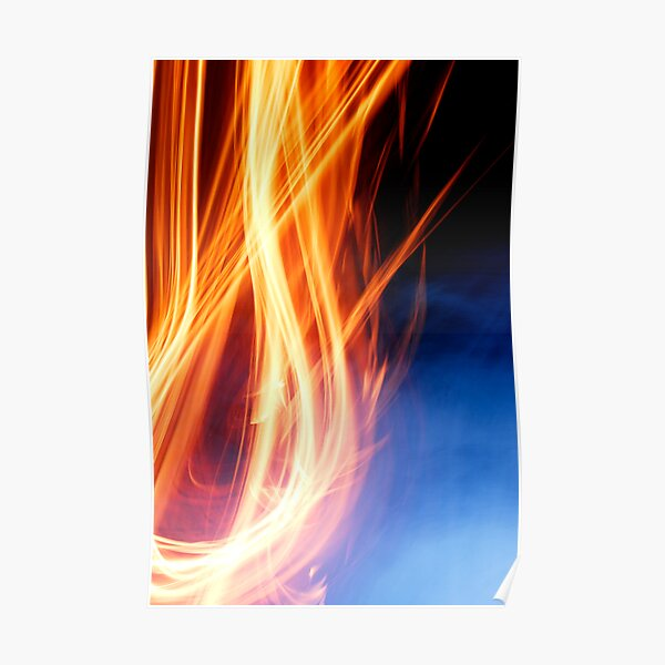 Abstract Fire Poster