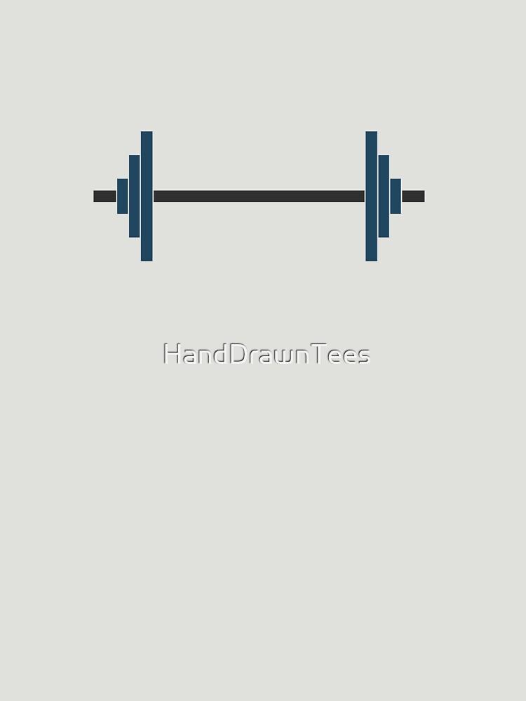 Barbells by HandDrawnTees