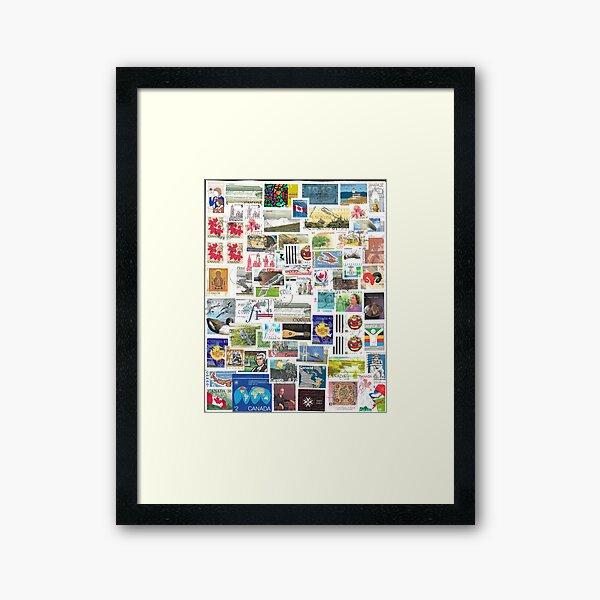Stamped Framed Art Print