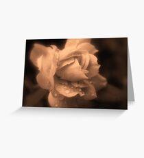 Monochrone Rose Greeting Card