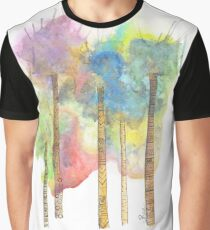 Funky Watercolor Trees Graphic T-Shirt