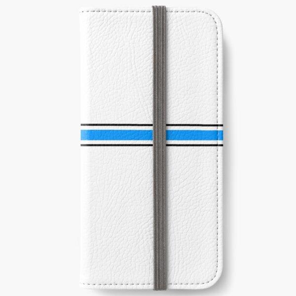 Heartbeat ECG Blue iPhone Wallet