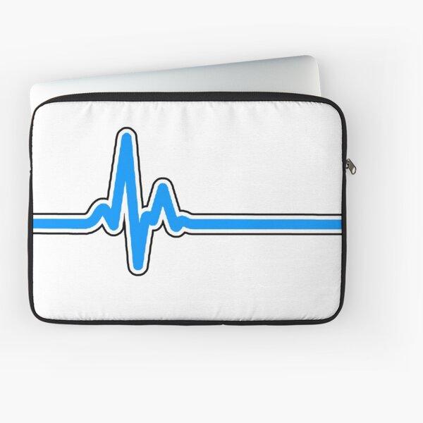 Heartbeat ECG Blue Laptop Sleeve