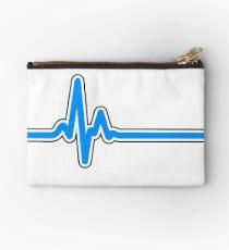 Heartbeat ECG Blue Studio Pouch