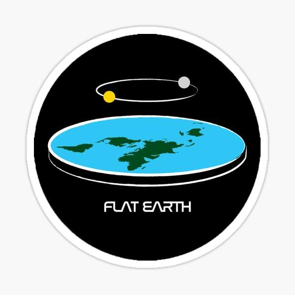 Minimalist Flat Earth Model Sticker