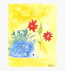 Watercolor Hedgehog Photographic Print