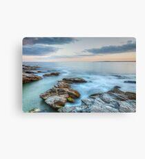 Rocky Sunset Seascape Canvas Print