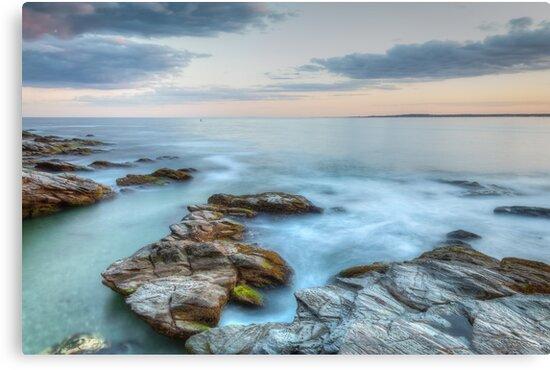 Rocky Sunset Seascape by Joshua McDonough