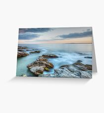 Rocky Sunset Seascape Greeting Card