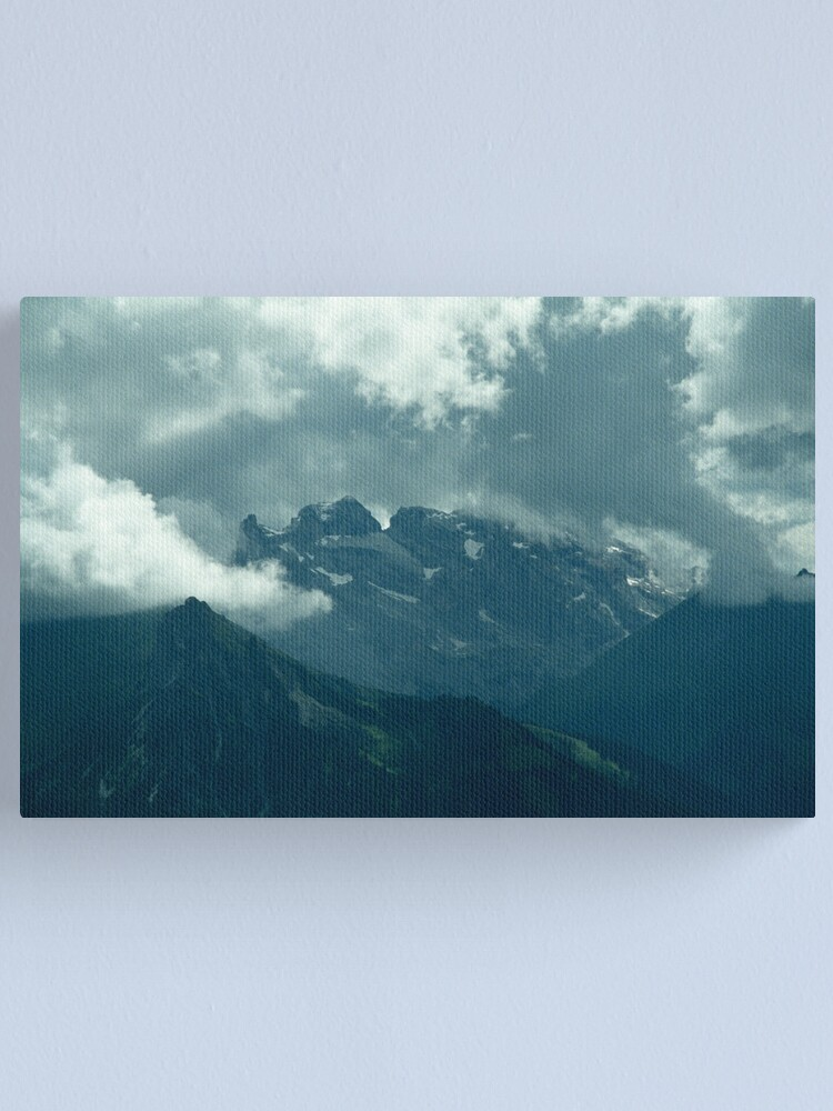 Alternate view of Clouds over Drusenfluh Canvas Print