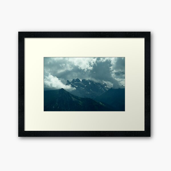 Clouds over Drusenfluh Framed Art Print