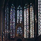 Apse of Upper Chapel, St Chapelle Built by St Louis 1243-8 Paris 19840818 0019 by Fred Mitchell