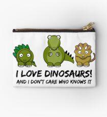 I Love Dinosaurs Studio Pouch