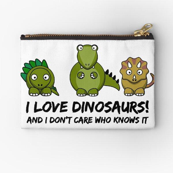 I Love Dinosaurs Zipper Pouch