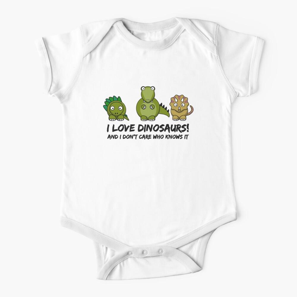 I Love Dinosaurs Baby One-Piece