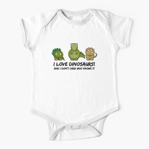 I Love Dinosaurs Short Sleeve Baby One-Piece