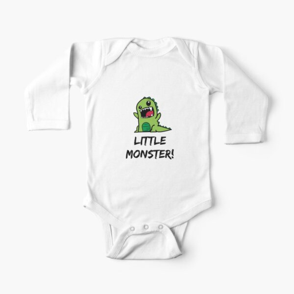 Little Monster Dinosaur! Long Sleeve Baby One-Piece