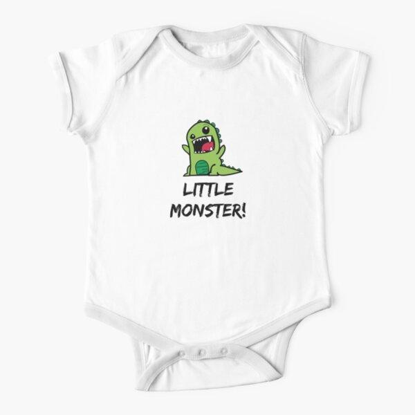 Little Monster Dinosaur! Short Sleeve Baby One-Piece