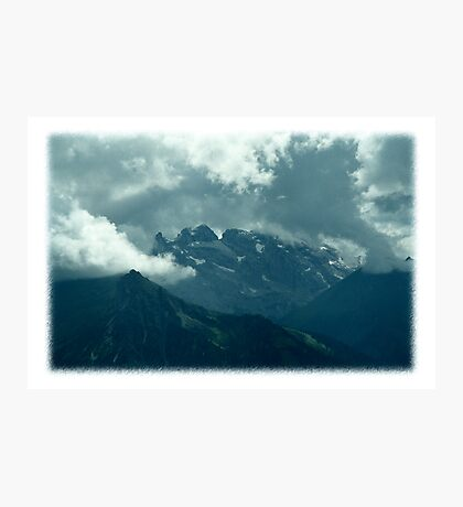 Clouds over Drusenfluh Photographic Print