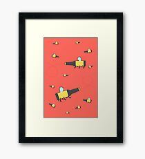 Bumble beer (red) Framed Print
