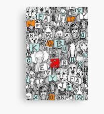 animal abc Canvas Print
