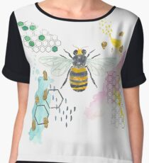 Honey Bee Abstract Women's Chiffon Top