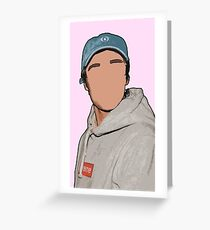 Justin Bieber Drawing Greeting Card