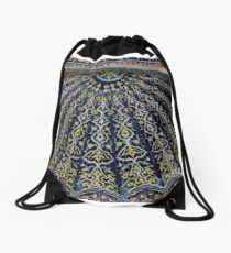 Blue & Yellow Tiles Drawstring Bag