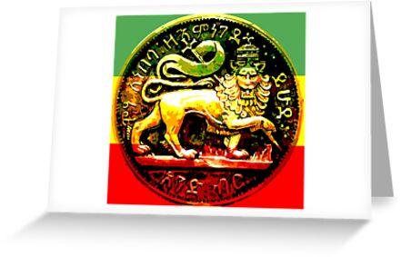 Jah rastafari ancient lion of judah design greeting cards by jah rastafari ancient lion of judah design by rastaseed m4hsunfo