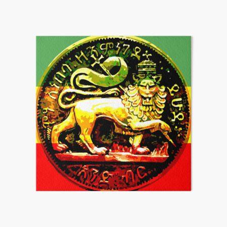 Jah Rastafari Ancient Lion of Judah Design Art Board Print