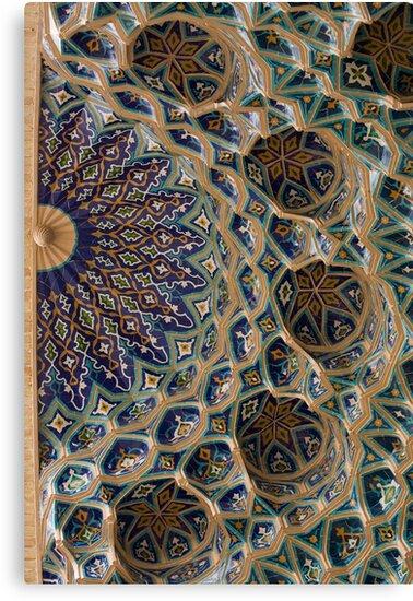 Roof detail, Amur Timur Mausoleum, Samarkand by Gillian Anderson LAPS, AFIAP