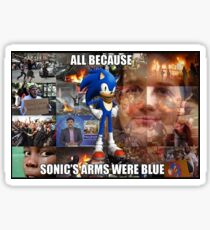 All because Sonic's arms were blue Sticker